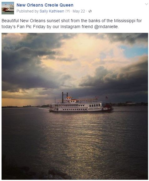creole queen sunset