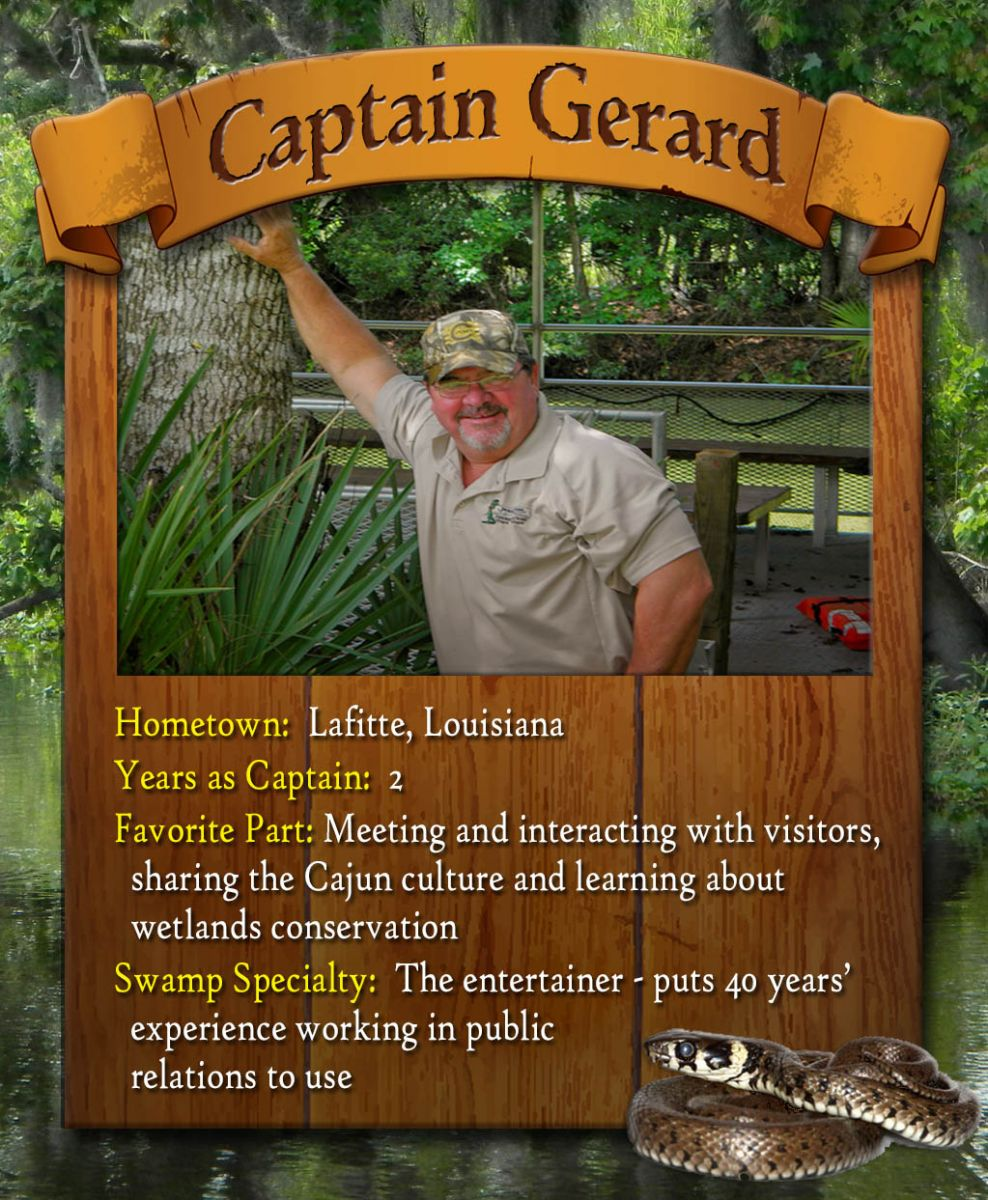 new orleans swamp tour captain gerard